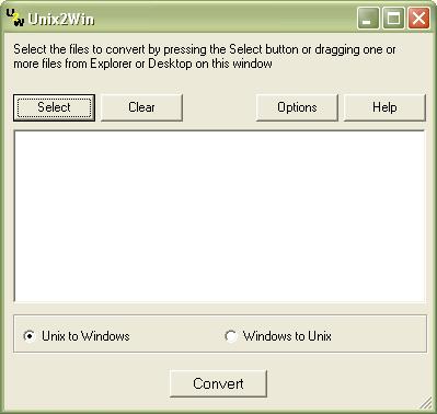 Unix2Win 1.0